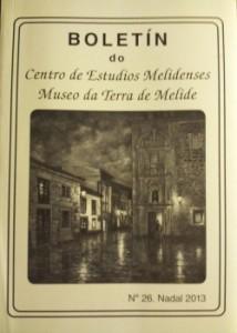 Boletín do Centro de Estudos Melidenses nº 26