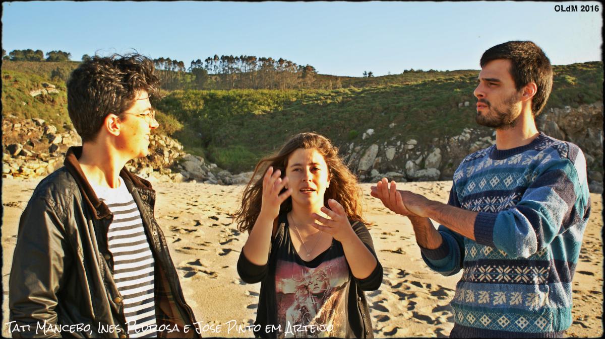 Foto: Táti Mancebo, Inês Sampaio e José Pinto em Arteijo (Galiza), por Alfredo Ferreiro.