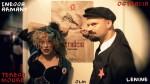 Fotografia da performance e promoção do romance Ostrácia, de Teresa Moure