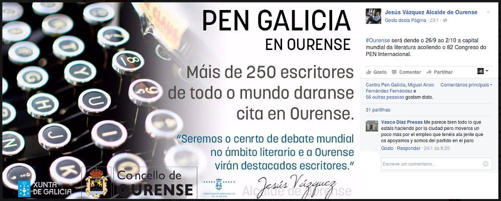 PEN Galicia en Ourense