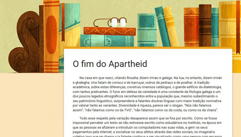 Manifesto O fim do Apartheid