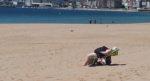 Praia de Coroso 2016 Banhista por Alfredo Ferreiro